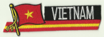Vietnam Embroidered Flag Patch, style 01.